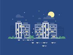Cityscape by Scott Tusk #Design Popular #Dribbble #shots