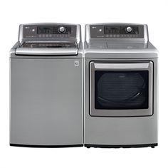LG Appliances WT5270CV-DLE5270V Washer and Dryer Set