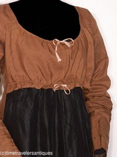c. 1815 silk gown on ebay with apron front skirt.