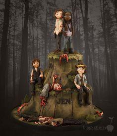 The Walking Dead Cake - by Black Cherry Cake Company Theme Halloween, Halloween Cakes, Creative Desserts, Creative Cakes, Cakes For Men, Cakes And More, Cupcakes, Cupcake Cakes, Bolo The Walking Dead