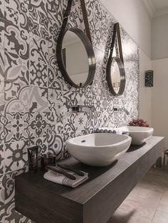 These are your beloved toilet design in the world Downstairs Toilet, Scandinavian Bathroom, Toilet Design, Bathroom Floor Tiles, Wall Tiles, Home Living, Beautiful Bathrooms, Bathroom Interior Design, Bathroom Inspiration