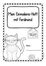 """Arbeitsblätter zum kleinen Einmaleins kann ich immer gebrauchen. Und so sind also diese mit dem süßen Ferdinand entstanden. Ich benutze gerne mein Einmaleins-Material """"Fütter den Ferdinand!"""" während der Stunde und gebe die Arbeitsblätter dann als Hausaufgabe mit. Aber sie können natürlich auch unabhängig davon eingesetzt werden. Falls du gerne ein Heft hättest, kannst du die Arbeitsblätter mit dem Deckblatt zusammenfügen (im DIN A4- oder DIN A5-Format, z.B. getackert, genäht, gelocht…"""