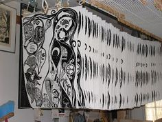 1000 Woodcuts blog about woodcut printmaking and art life of Maria Arango