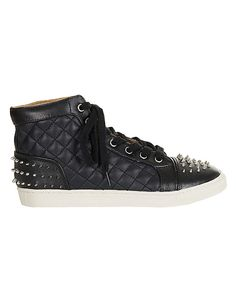 TOPSHOPAbsolute Stud Quilted Hi Tops