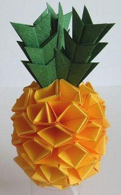 Origami pineapple make a graphic tutorials !! 100% free computer graphics tutorials @ http://allcgtutorials.com