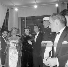 News Photo : Italian actor Marcello Mastroianni, French... Belinda Lee, Anouk Aimee, Marcello Mastroianni, French Actress, British Actresses, Still Image, Cannes, Presentation, Actors