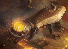 Bracelete Escarlate, item que guarda o Coração Escarlate de Fandlosth Rastro-de-Cinzas. Arzien.