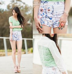 Silk and floral (by Isabel Z) http://lookbook.nu/look/4001382-silk-and-floral