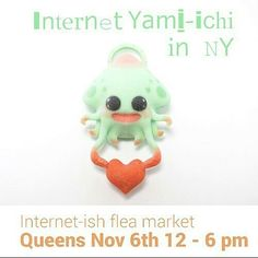 #Repost  Go visit @thewondercatx if you're in NY this weekend!!! At Internet Yami-Ichi NY2 she will have 3D printed toys resin toys patches pins and stickers!  #squid #heart #love #3dprinted #internet #thingstodoinnyc #queens #knockdowncenter #yaminy2 #toystagram #toys #toyart #arttoy #designertoy #resinart #patchgame #pingame