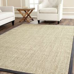 Think coastal living and casual beach house style with rugs so classic they'll even work in the city. This manufacturer's natural fiber rugs are soft underfoot, textural, natural in color and woven of sustainably-harvested sisal and sea grass, or biodegradable jute.