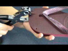 Como aplicar os pontos de luz no chinelo - Videoaula Sr. Chinelo - YouTube
