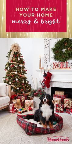 LOVE the burlap ribbon around the tree with some simple white and red ornaments! Keep it simple stupid! Decoration Christmas, Christmas Mantels, Xmas Decorations, Winter Christmas, Christmas Home, Vintage Christmas, Plaid Christmas, Christmas 2019, Christmas Trees