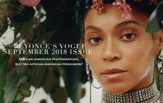 Beyonce's Vogue September 2018 Issue: African-American Photographer, But No African-American Designers? - Fashion Bomb Daily Style Magazine: Celebrity Fashion, Fashion News, What To Wear, Runway Show Reviews Daily Fashion, Fashion Fashion, Fashion News, Fashion Design, Floral Headdress, Beyonce Style, Daily Style, Headpiece, What To Wear