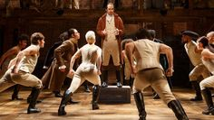 """""""Hamilton"""" an off-Broadway musical is moving on Broadway later this year -- fitting, in a way, for the story of the immigrant founding father and visionary who was all about moving onward and upward."""