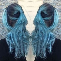Dusty Pastel Teal Hair Color , blue hair color