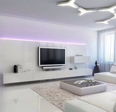 White Living Room LightingModern RoomsModern InteriorsHome