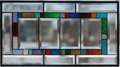 Large Beveled Stained Glass Window Panel. $93.00, via Etsy.