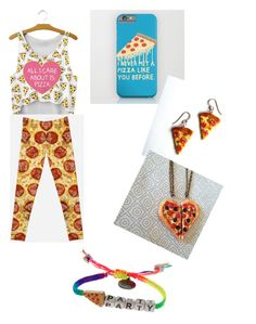 """Pizza Party"" by acro-diva ❤ liked on Polyvore featuring art"