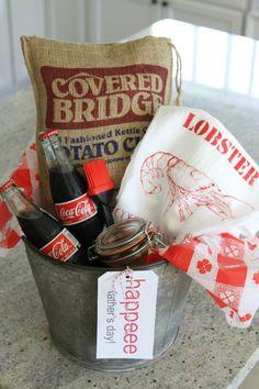 FATHER'S DAY DIY GIFT BASKET IDEAS | Father's Day Gift Basket via Lemonade Makin' Mama