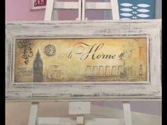 Transferencia de imagenes sobre madera - Pinturas 3D - Decapado - Cuadro Home Pato Mariani - YouTube