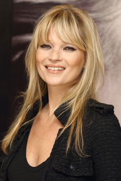 Kate Moss - Iconic Bangs Throughout History  - HarpersBAZAAR.com