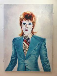 Oil on canvas, 65 x 90 cm. Get in touch to discuss a commision. David Bowie, Oil On Canvas, Illustration Art, Touch, Portrait, Artist, Fictional Characters, Collection, Headshot Photography