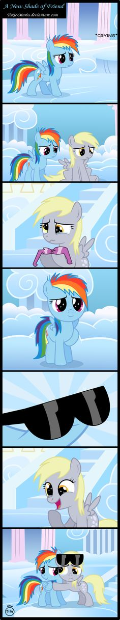 This is so sweet! Why do I feel like crying?    Derpy Hooves and Rainbow Dash - My Little Pony: Friendship Is Magic