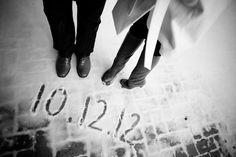 Winter save the date idea