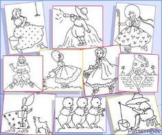 free pdf download of nursery rhyme designs suitable for redwork