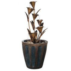 Alfresco Home Arima Ceramic Indoor/Outdoor Fountain with Pump - 74-7913