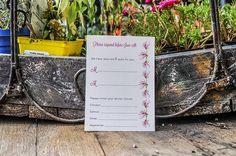 Wedding Invitations by r3mg - www.r3mg.com - Flowery, Pink, Romantic, Blush, Trellis - Response Card