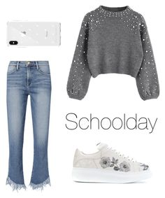 """Just a schoolday."" by djamilladjamilla on Polyvore featuring mode, Frame, Alexander McQueen en Rebecca Minkoff"