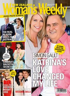In this week's issue, MasterChef New Zealand judge Simon Gault and his gorgeous wife Katrina open the doors to their retreat.  Read all about Prince William's fury as the couple's island holiday escape is rocked by another photo scandal.  The Weekly has the inside scoop from Kiwi singer Kimbra's big night at the Grammys, including the inspiration behind her frock.  This week in our 'Weekly People' section a Kaitaia mum reveals her money-saving secrets.
