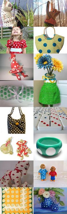 DOTS make me smile by Debra on Etsy--Pinned with TreasuryPin.com