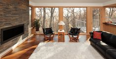 Photo from the Marvin Windows and Doors gallery WHat are the woods in this pic? Casement Windows, Big Windows, Floor To Ceiling Windows, Windows And Doors, Front Windows, Marvin Windows, Grey Front Doors, Zen House, Craftsman Door