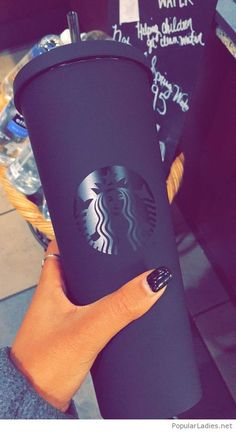 ♥ stupid fruity swag like a mfkn runt ♥ stupid fruity swag like a mfkn runt ♥ matte, matte black, starbucks, starbucks cup, matte black starbucks cup Copo Starbucks, Starbucks Drinks, Starbucks Tumbler, Thermo Mug, Things To Buy, Girly Things, Cute Water Bottles, Accessoires Iphone, Cute Cups