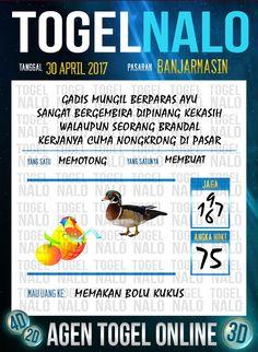 Kode Paito 2D Togel Wap Online TogelNalo Banjarmasin 30 April 2017