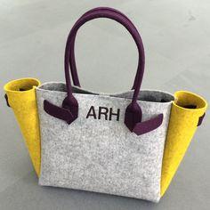 ArtAK WOLF Bag. Tote Bag. Wool Felt BAG. Felt Tote Bag.