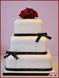 Image result for 3 tier square wedding cakes