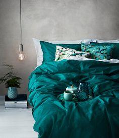 Sengesæt i bomuld | Petrol | Home | H&M DK