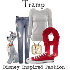 from Lady and the Tramp Disney inspired outfit Disney Character Outfits, Cute Disney Outfits, Disney Themed Outfits, Character Inspired Outfits, Cute Outfits, Disney Clothes, Disney Bound Outfits Casual, Emo Outfits, Disney Shirts