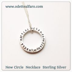 Hand stamped sterling silver donut necklace . Can be customized #vancouver #yvr