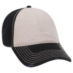 86137d9a Black Khaki Color Distressed Dad Hat 6 Panel Cap, Black Khakis, Dad Hats,