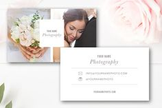 Photographer Business Card Template by By Stephanie Design on @creativemarket