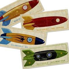 Rocket ships. Maybe I'll print and frame these for Rome's room.
