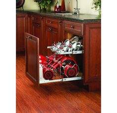"Rev-A-Shelf 5CW2-2122 5CW2 Series 21"" Two-Tier Pull Out Cookware Organizer Image"