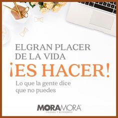 "MoraMora on Instagram: ""La frase de hoy. . . #moramora #frases #frasemotivadora #frasesinspiradoras"" Instagram, Inspirational Quotes, Thoughts"