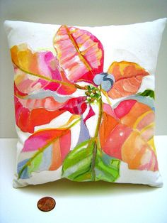Pillows hand paint