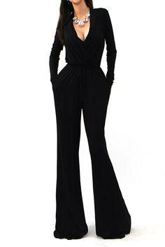 Well Suited Tie Waist Jumpsuit - Black