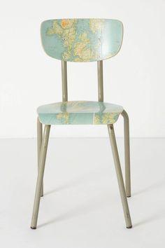 Geography Lesson Chair  #projectnursery #franklinandben #nursery